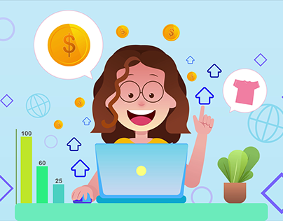 Increasing Money by Online - After Effect Art