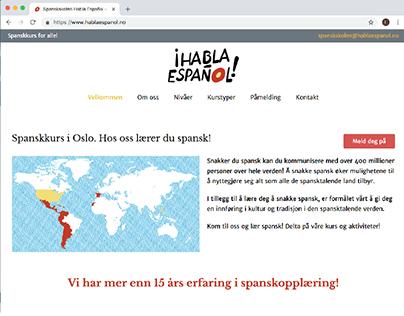 Habla Español website. Language school.