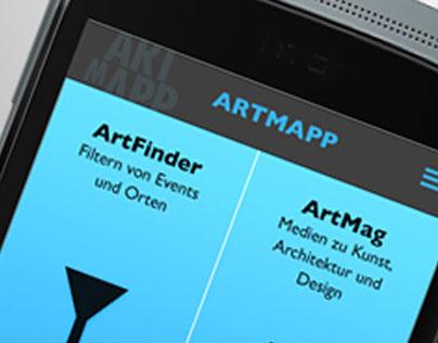 ARTMAPP  APP, MOBILE WEBSITE