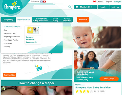 Pampers Web 2015