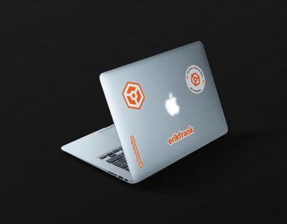 Free Macbook Stickers Mockup