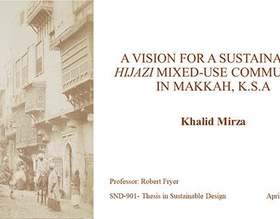 Khalid Mirza MSSD Thesis - Professor Robert Fryer