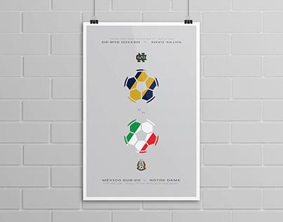 Mexico vs Notre Dame Soccer Poster