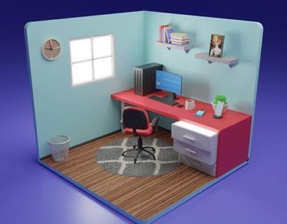 Isometric Offce Room Setup