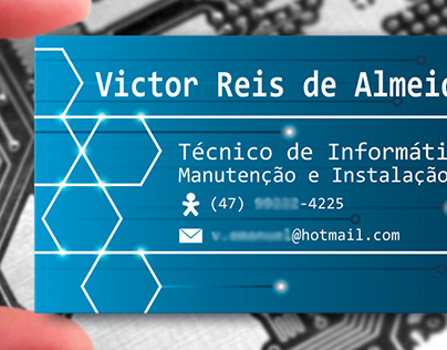 Cartão de visitas - Victor Reis.