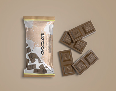 Packaging Mockup for Chocolate Product