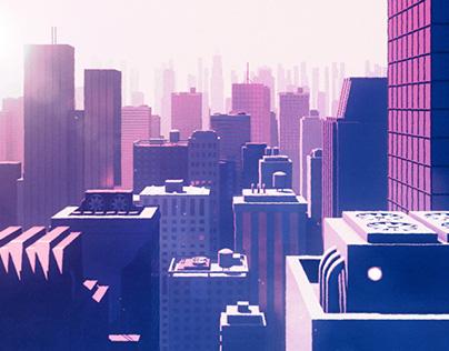 Urban Sunrise / Concept Art / 3D / Motion Graphics