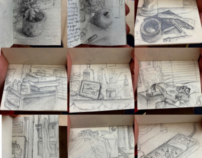 15 Day Ritual. 15 min observational sketches