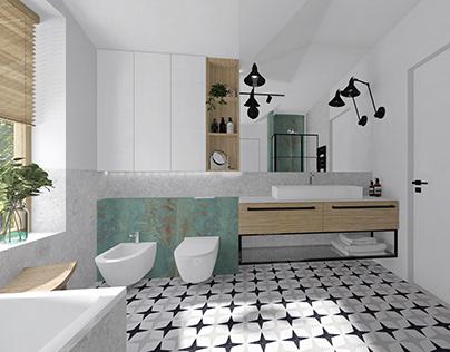 Dom prywatny - łazienka