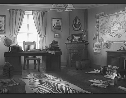 Adventurers Office — Set Design