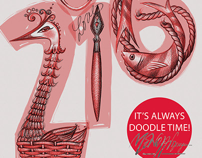 Digital:  It's Always Doodle Time! Calendar 2016.