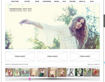 Nasty Gal - E-commerce Site Re-imagined
