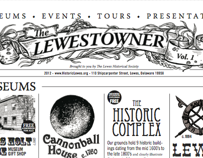 Illustrated Header: for 'The Lewestowner'