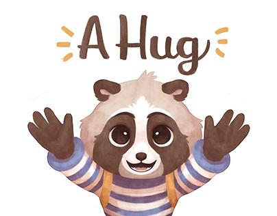 A hug - Children's book Illustrations