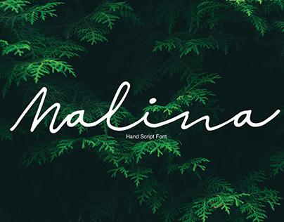 MALINA SCRIPT - FREE HANDWRITTEN FONT