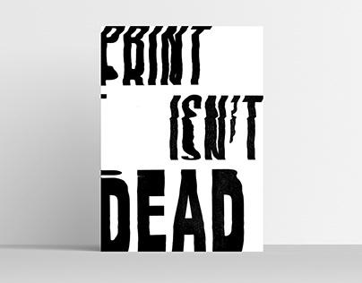 Print isn't dead glitch print