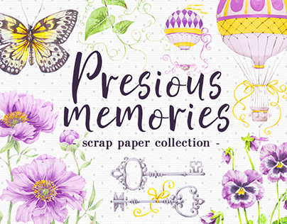Precious memories scrap paper collection