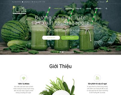 Ecommerce website. Brand Ilite
