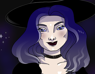 Vector illustration   Halloween witch