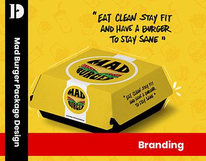 Mad burger package design