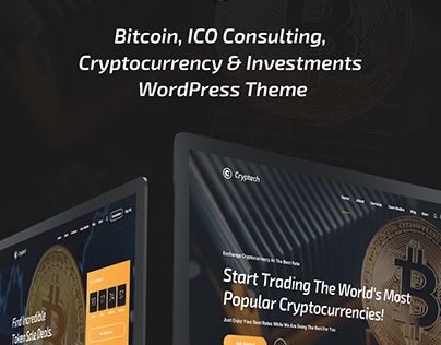 Cryptech - Bitcoin, ICO, Cryptocurrency WordPress Theme