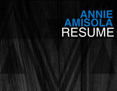 Annie Amisola Resume 2015