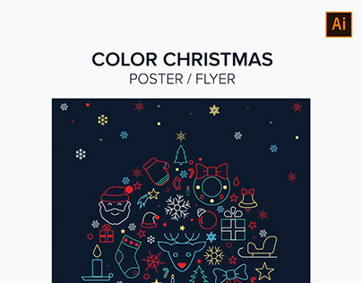 Color Christmas Poster / Flyer Template
