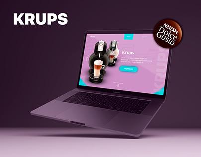 KRUPS Landing page