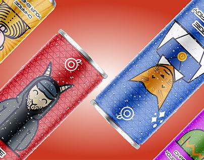 Energy drink concept packaging design