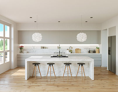visualization of kitchen interior