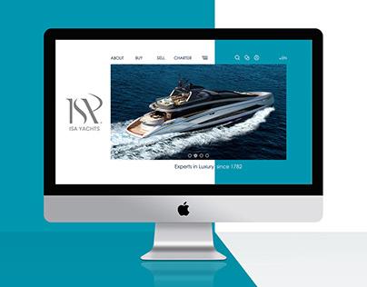 Luxury yacht Web UI UX design