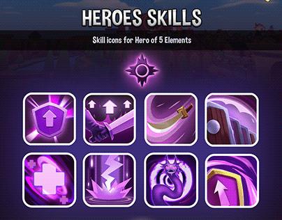 Heroes skill of Kingdom Raid - Mobile game