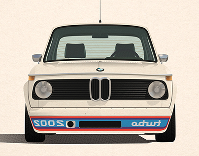 1974 BMW 2002 Turbo Print