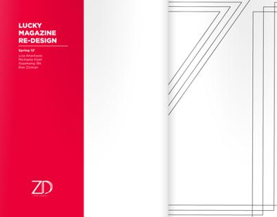 ZASK - Lucky Magazine re-design