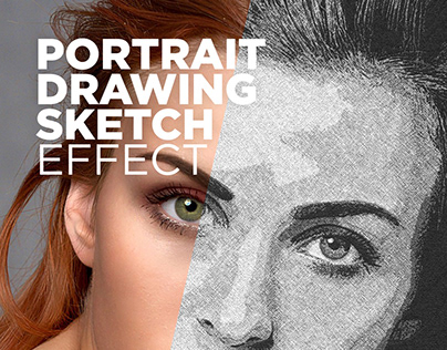 Free Photoshop Actions Portrait Drawing Sketch Effect