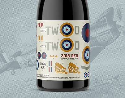 Poets Two - Wine Label