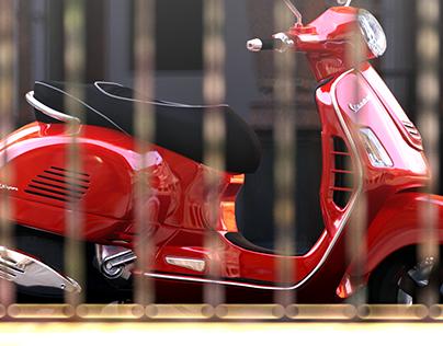 VESPA GTS 300 Super - CGI