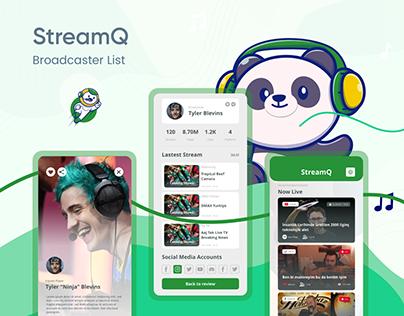 StreamQ Mobile UI/UX Design - Case Study