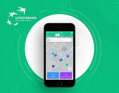 Concept of ATM Map for Ukrsibbank
