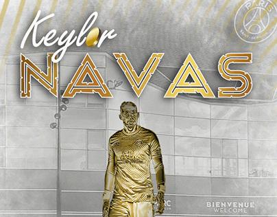 Keylor Navas gold statue Paris Saint-Germain