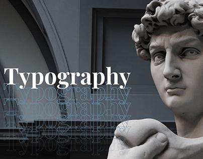 David (Michelangelo) / Typography / Font