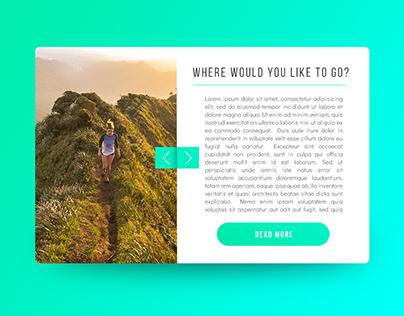 Travel blog card - UI Design