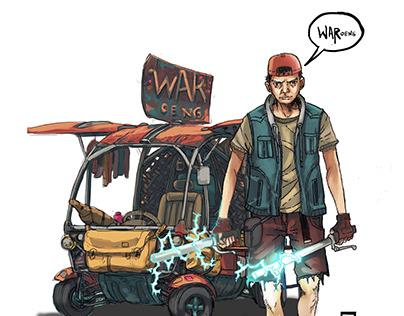 Pendekar Kaki 5 : Kunang The WARoeng Rider