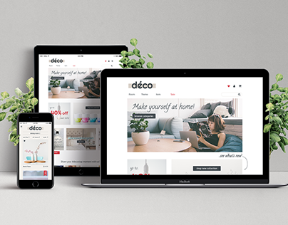 Deco Stop e-shop design