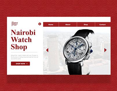 UI Design - Nairobi Watch Retailer.
