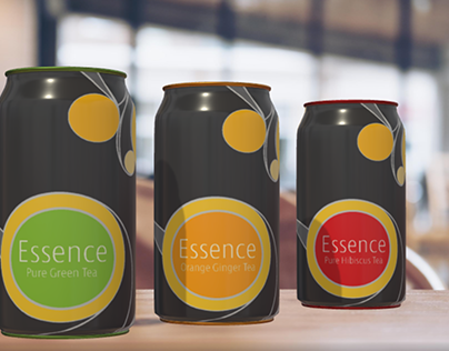 Product Visual Design for Ice Tea with Adobe Ai & Dn