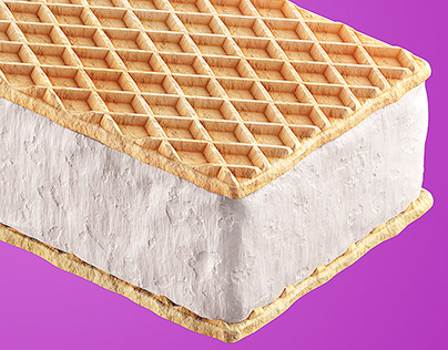 Ice Cream - WAFERS - 3D Made with Modo