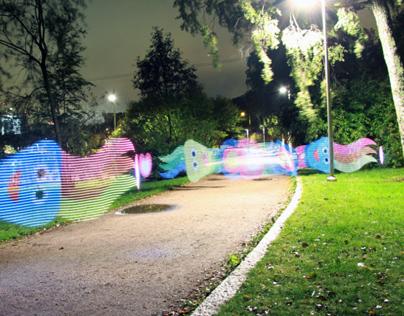 Tecladito Light Painting