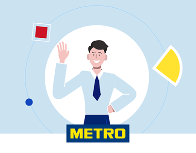 Flat animation for METRO Cash & Carry