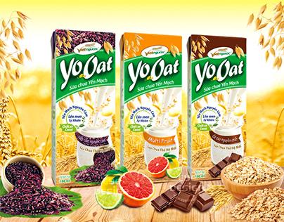 Thiết kế bao bì sữa chua YoOat